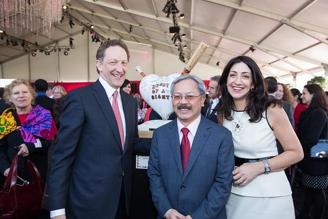 Larry Baer, Mayor Ed Lee, Pam Baer