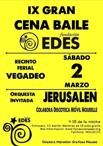 Orquesta Jerusalén 2013 - Festival benéfico Fundación EDES - cartel