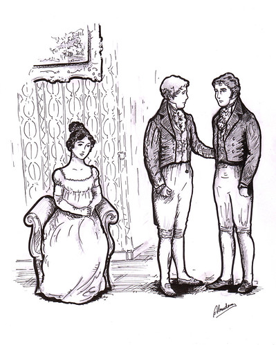 Illustration/Ilustración: Not handsome enough to tempt me by Sitio de Jane Austen