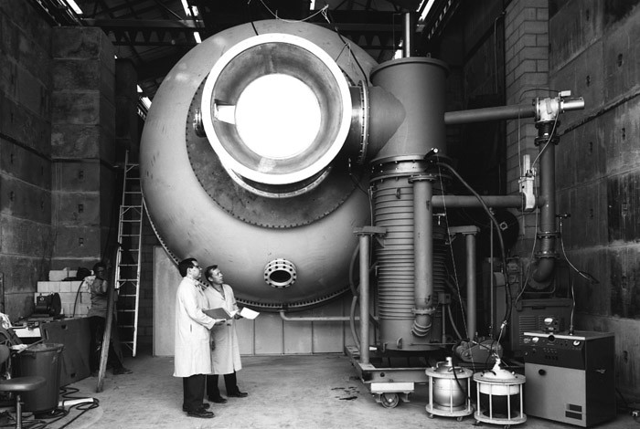 The Hermes II flash X-ray accelerator was built in 1968 to support testing of materials and components.