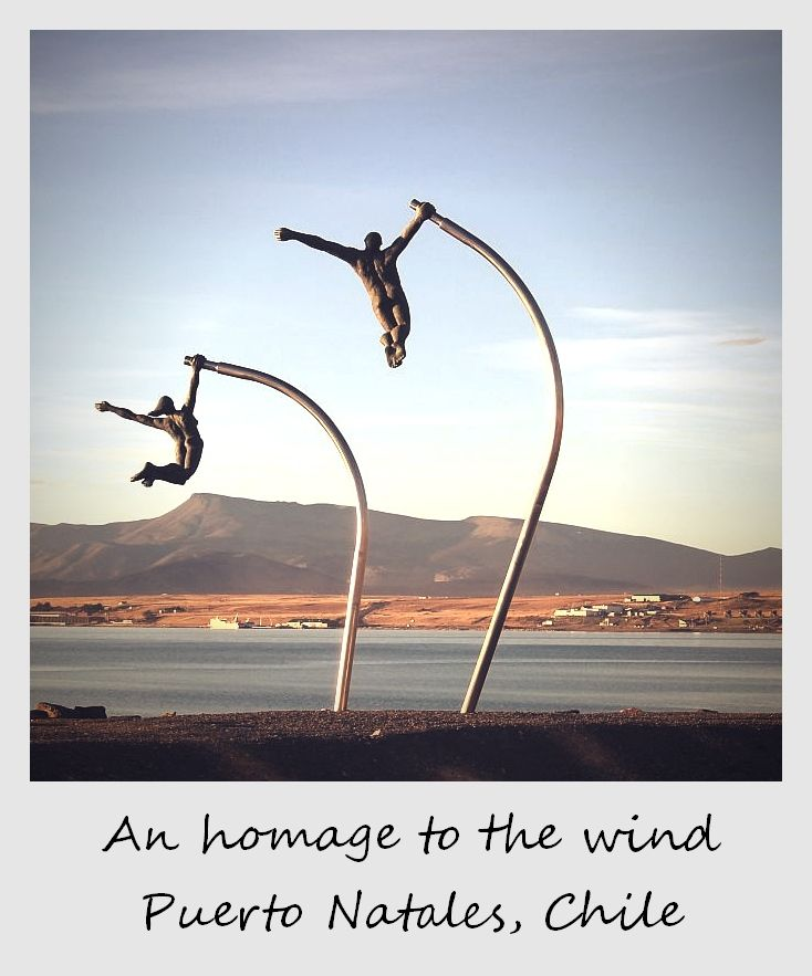 polaroid of the week chile puerto natales sculptures