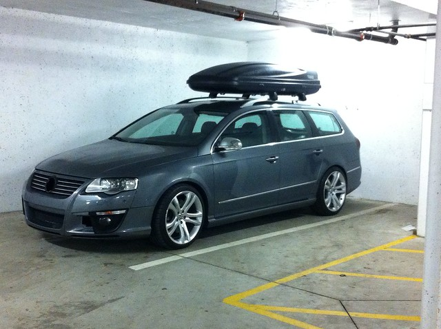 Vwvortex Com Passat Wagon With Roof Racks And Cargo Boxes