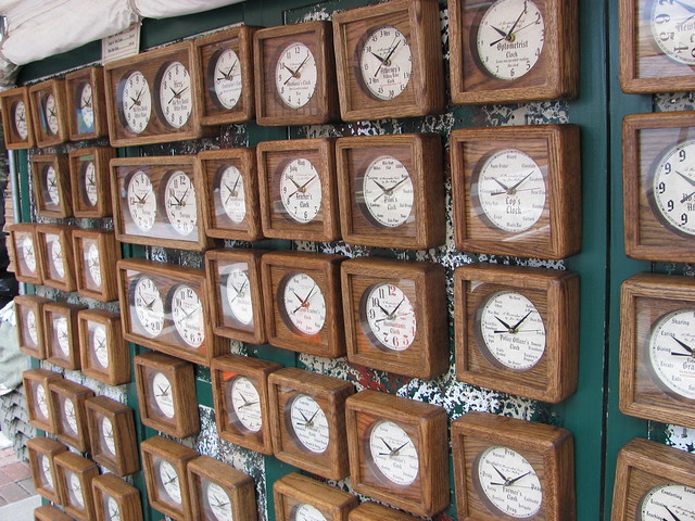 A Wall of Clocks