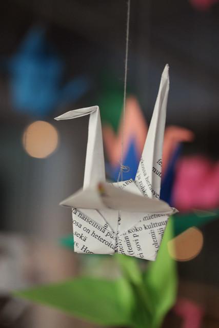 Origami lintu