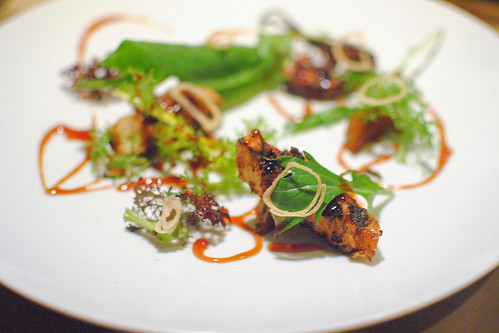 Grilled Octopus – Sour Apple Syrup – Cardamom Butterscotch Potato – Sorrel