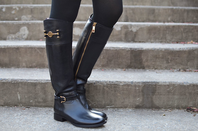 Tory Burch Nadine black riding boots