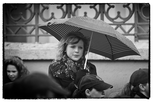 street ireland portrait bw irish wet rain umbrella mono candid parade mayo stpatricksday castlebar fullard frankfullard