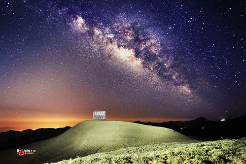 合歡山北峰反射板--銀河