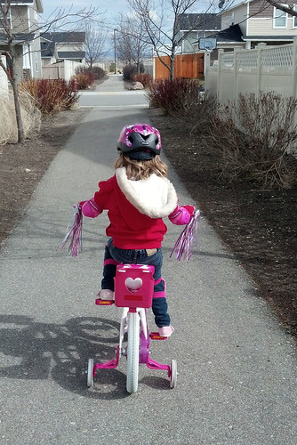 Lil's first ride on her Big Girl Bike