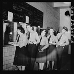 DC Transit Women Turning in Receipts: 1943