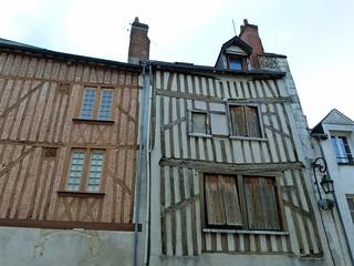 Fachadas del barrio medieval de Orleans
