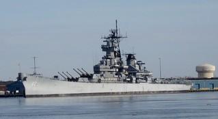ภาพของ USS New Jersey. newjersey ship worldwarii 1940s battleship koreanwar vietnamwar camdencounty
