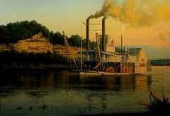 Steamboat Arabia Painting
