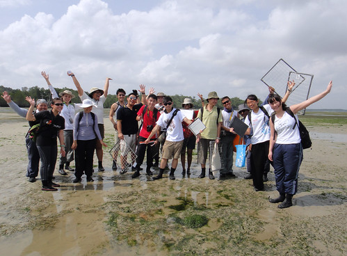 TeamSeagrass volunteers on Chek Jawa
