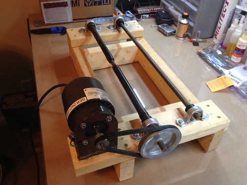 Diy wet media tumbler pic heavy for Diy rock tumbler motor