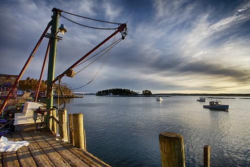 ocean islands bay dock maine georgetown hoist lobsterboats 5islands