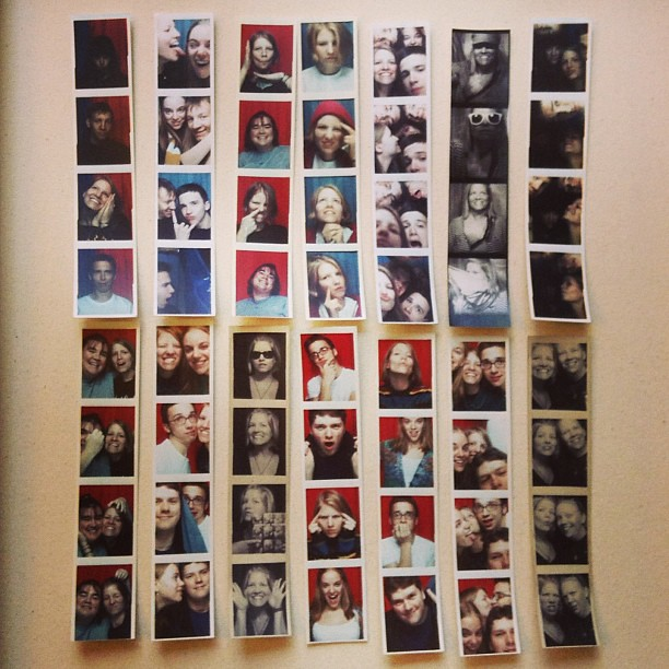 Working on a fun project idea. Some of my #photobooth strips from over the years.