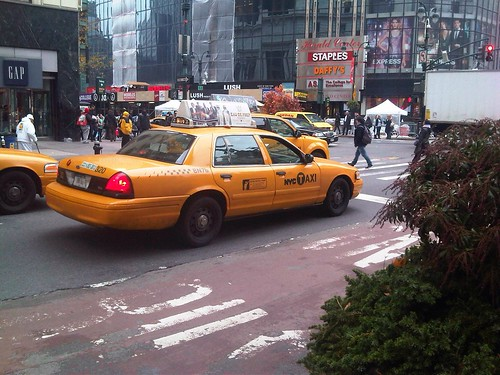 Taxi en New-York City Manhattan