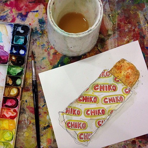 Chiko Roll Drawing in progress