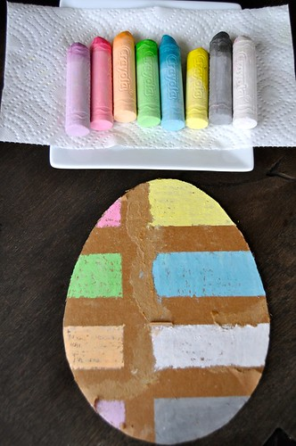 Easter Egg Tape Resist Chalk