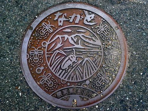 Nagato city Yamaguchi pref,manhole cover 2 (山口県長門市のマンホール2)