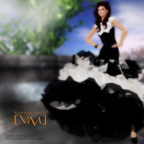 [VM] VERO MODERO _ Kaleidoscope BW Dress