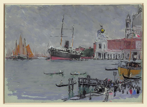 003-Muelle en Venecia-1901-1908- Joseph Pennell-Library of Congress