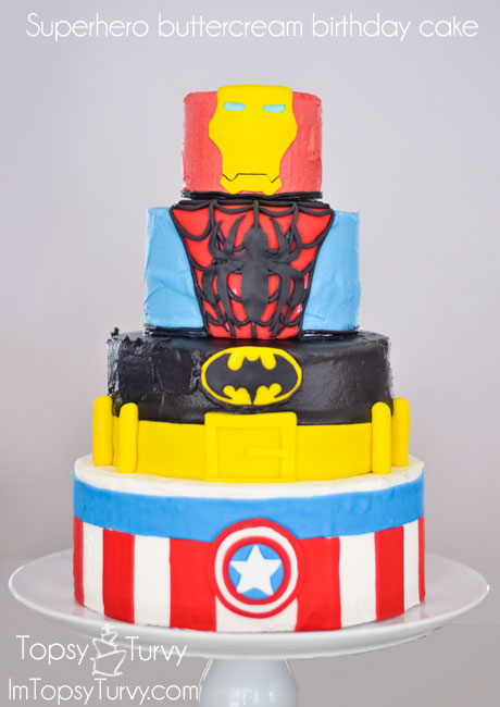 Superhero Birthday Cake Ashlee Marie Real Fun With