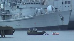 aircraft carrier(0.0), minesweeper(0.0), heavy cruiser(0.0), naval ship(1.0), vehicle(1.0), ship(1.0), destroyer(1.0), watercraft(1.0), battleship(1.0),