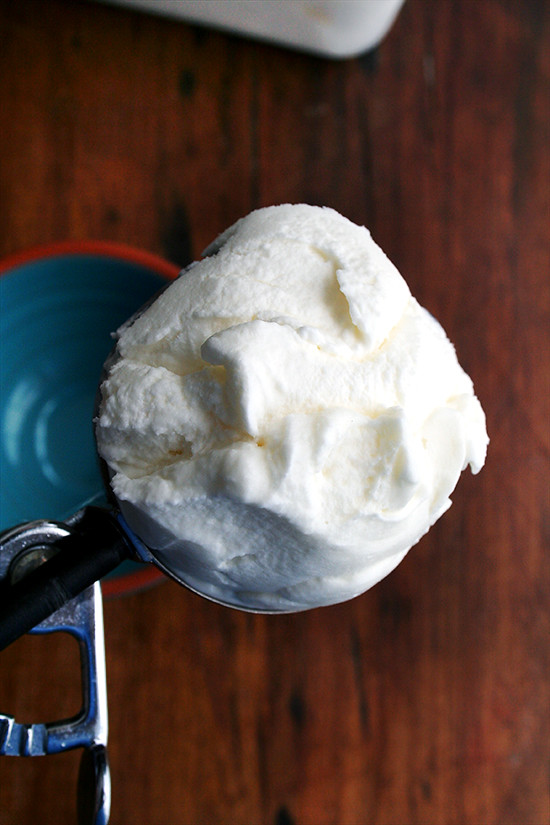 scoop of mascarpone sorbet