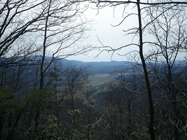 view of cades cove (crooked arm ridge trail)