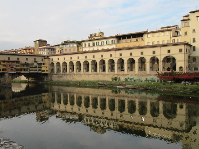 River Arno and the Ponte Vecchio in Florence, Italy