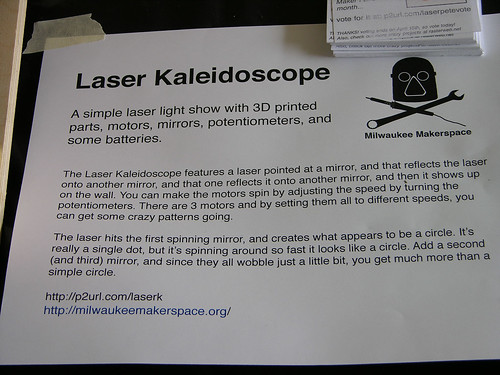 Minne-Faire 2013 Laser Kaleidoscope