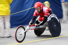 keirin(0.0), track cycling(0.0), cycle sport(0.0), cycling(0.0), motorcycle speedway(0.0), bicycle(0.0), racing(1.0), endurance sports(1.0), bicycle racing(1.0), wheelchair sports(1.0), vehicle(1.0), sports(1.0), wheelchair racing(1.0), race track(1.0),