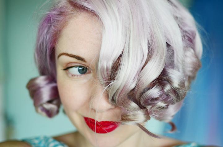 lilac curls pin curl set a