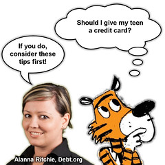 Guest Blogger Alanna Ritchie with Credit Card Tips for Teens