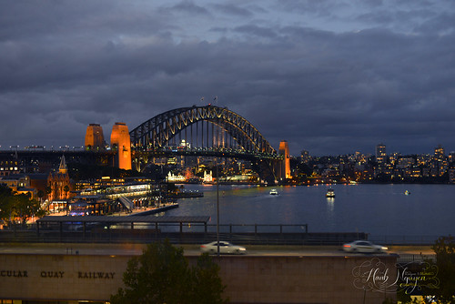 Sydney harbour bridge from Sydney Cafe
