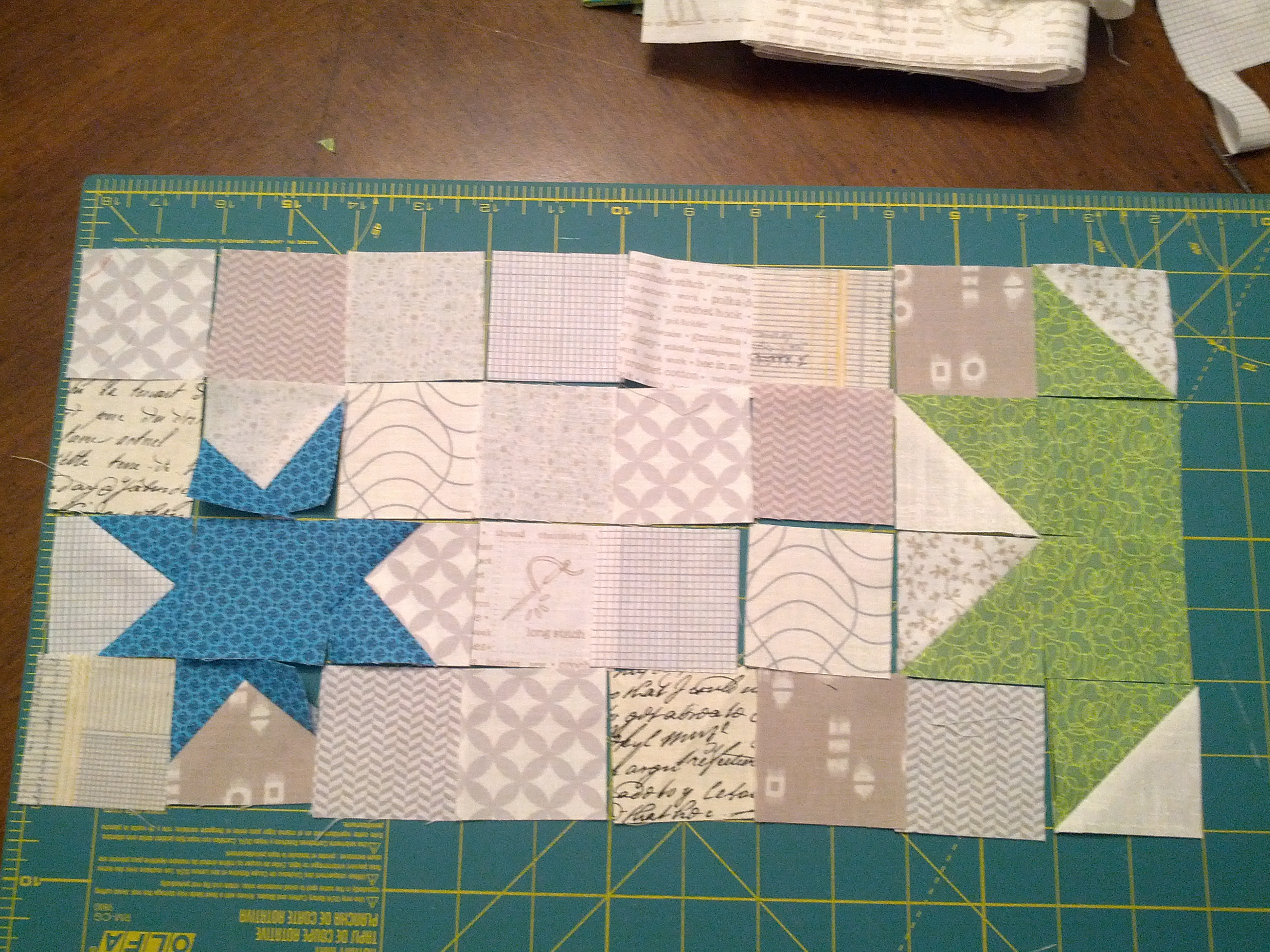 Laying out patchwork