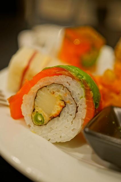 Whistler aurora sushi rolls