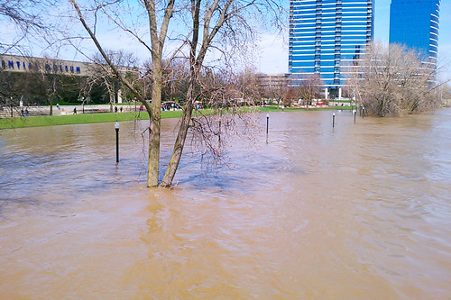 More flooding along the river.