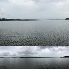 Cloudy and beautiful day on the lake. Not another boat in sight (and only occasional raindrops!)