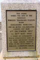 Photo of Guglielmo Marconi gold plaque