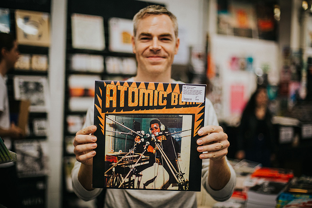 Record shopping with American Football
