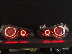 Well then... These new HD Halos from @diodedynamics are on a whole notha levah...  These are going to be dropped into one killer BRZ.   Stay tuned.   ____________________ 🚫We DON'T reply to DMs🚫 For Pricing & Appointments :mail