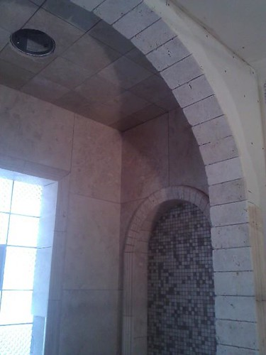 Travertine tile arches