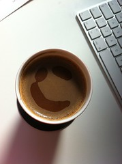 coffee face at work