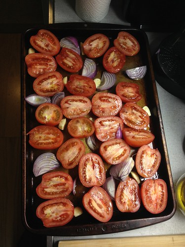 Tomatoes, Onions, and Garlic for Roasting