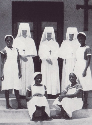 c.1958. Sisters and Nurses at Asankrangwa Ghana
