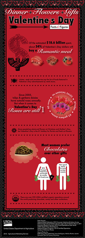 Infographic (click to see larger version) highlighting Valentine's Day stats and figures.