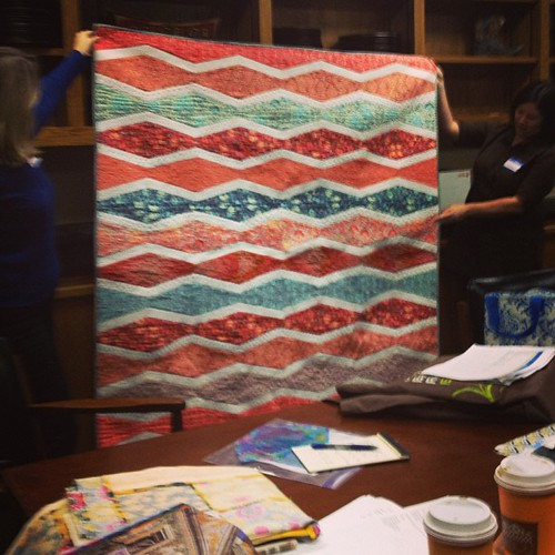 My saltwater quilt at the #sacmqg meeting today.